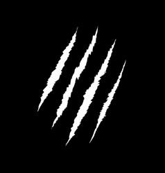 Claws scratch on black background design element vector