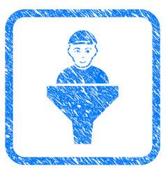 Client sales filter framed stamp vector