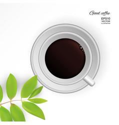 Coffee americano in a white cup vector