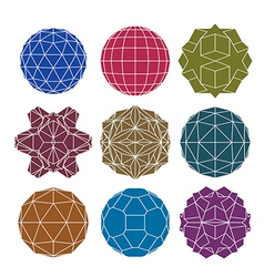 Collection of 9 single color complex dimensional vector