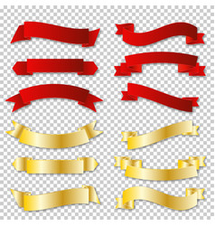 Complete set banners and ribbons vector