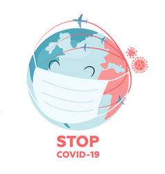 concept health care to stop coronavirus vector image