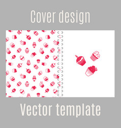 cover design with pink muffins vector image