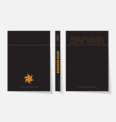 cover of business diary for 2019 with logo design vector image