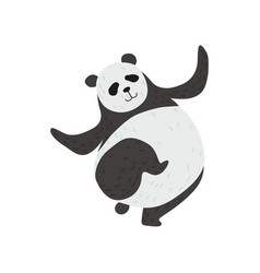 Cute panda bear funny lovely animal character vector