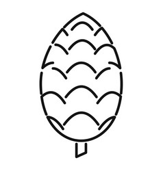 Decoration pine cone icon outline style vector