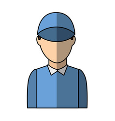 Delivery worker avatar icon vector