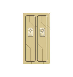 Deposit safe box protection of personal vector