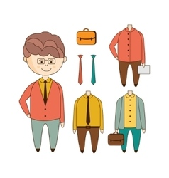 Different outfits construction set vector