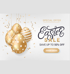 easter sale discount banner vector image