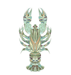 ethnic lobster isolated vector image