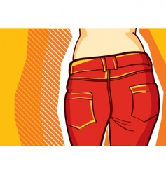 Fashion jeans background vector