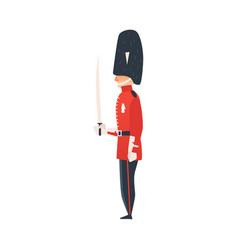 Flat queen guard man isolated vector