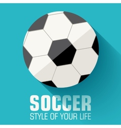 Flat sport soccer background concept design vector image
