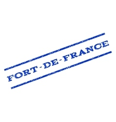 Fort-De-France Watermark Stamp vector