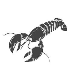 Glyph lobster icon vector