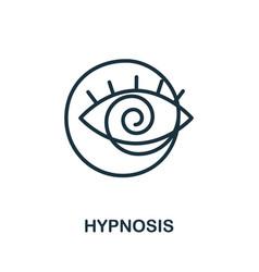 Hypnosis icon from alternative medicine vector