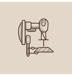 Industrial automated robot sketch icon vector
