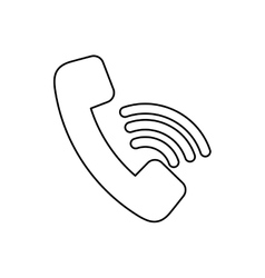 Isolated telephone symbol vector
