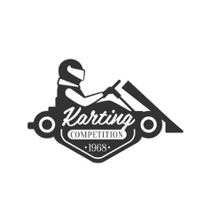 Karting Club Event Promo Black And White Logo vector