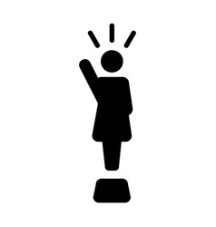 Leader icon - woman public speaking person symbol vector