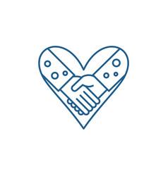 Love fidelity line icon concept love fidelity vector