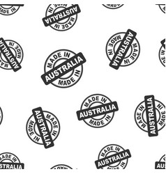 Made in australia stamp seamless pattern vector