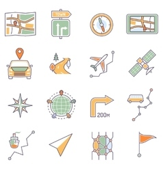 Map Icons Line vector image
