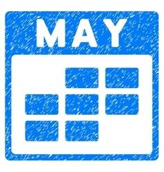 May Calendar Grid Grainy Texture Icon vector