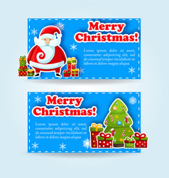 merry christmas banner set vector image