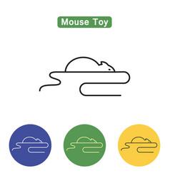 Mouse toy line icon vector