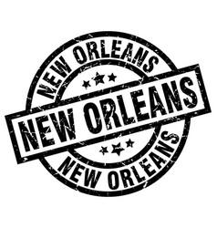 New orleans black round grunge stamp vector