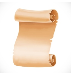 Old scroll of parchment for your design isolated vector image