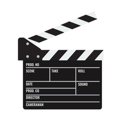 Opened cinema or film clapper vector