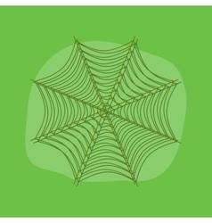 Paper sticker on stylish background spider web vector