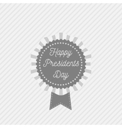 Presidents Day Emblem with Text and Ribbon vector image