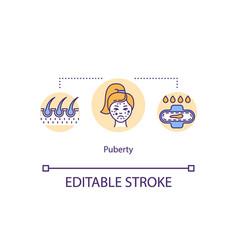 Puberty concept icon vector