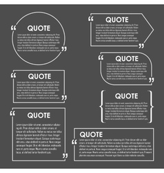 Quote blank template Quote bubble vector image
