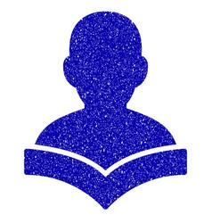 Reader student icon grunge watermark vector
