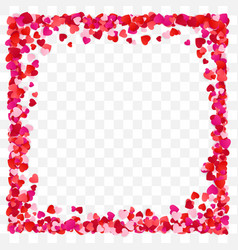 red paper heart frame background heart frame vector image