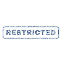 Restricted textile stamp vector