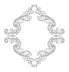 retro baroque decorations element vector image