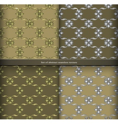 set Vintage retro seamless patterns vector image