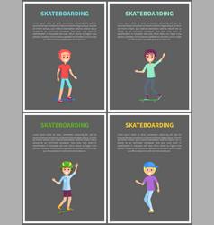 skateboarding posters set vector image