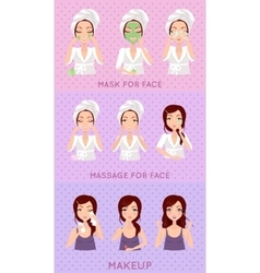 Skin Care Set vector