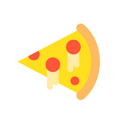 Slice of pizza food and gastronomy set flat icon vector
