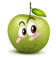 Surprised apple smiley vector