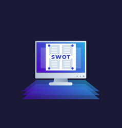 swot analysis icon vector image