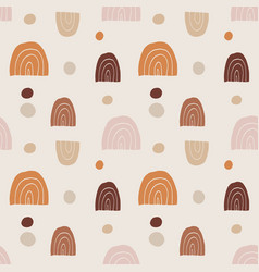 trendy hand drawn seamless pattern with doodle vector image