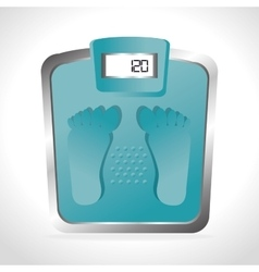 weight measure design vector image